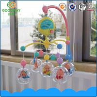 2016 musical mobile baby bed bell top selling electric baby musical hanging toys