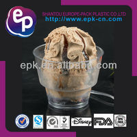 FDA/BPA Free disposable plastic ice cream sundae cups 5OZ