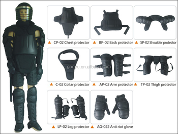 police anti riot suit/anti riot protection set