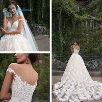 Chapel Train Ball Gown Pictures Of Beautiful Wedding Gowns