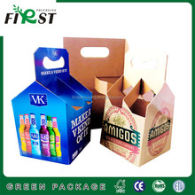 customized Printed single wine bottle paper box/cheap box & corrugated paper wine box