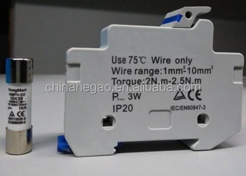 HMPV-20 Solar Photovoltaic System Protection Fuse