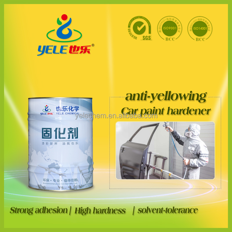 Anti-yellowing blocked type low activity paint hardener for polyurethane