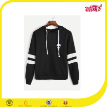 new design black plain hooded sweatshirt men,pullover crew neck hooded jumper
