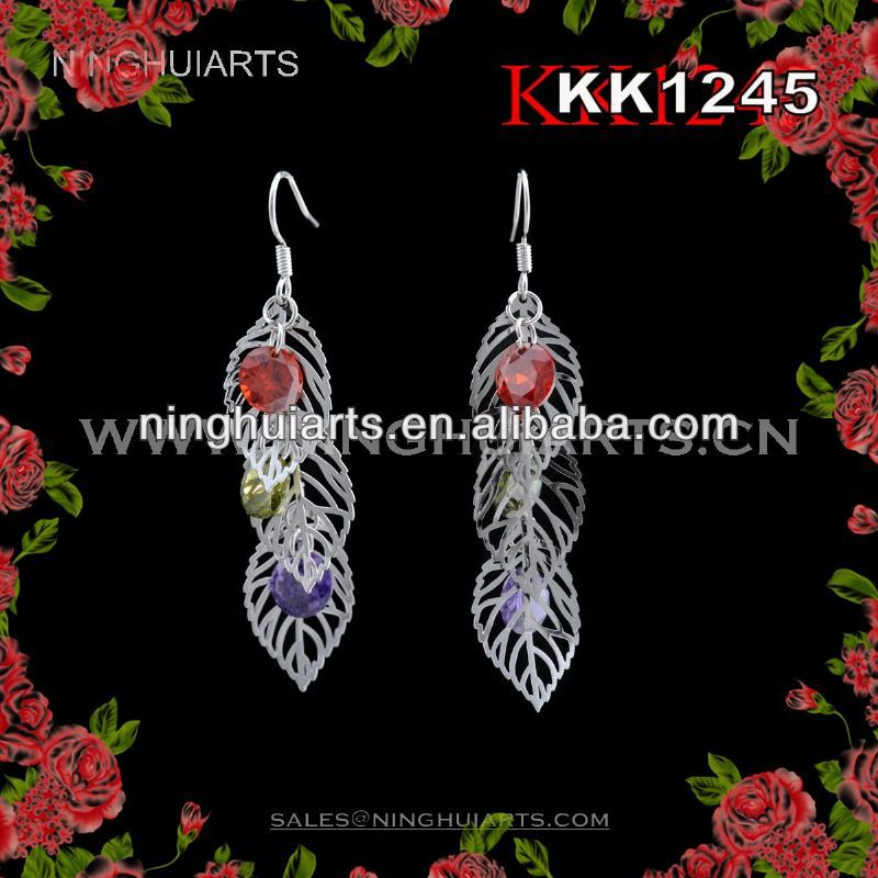 wholesale crystals high quality earrings jewelry beautiful pakistani wedding dr... made in China