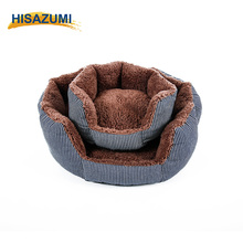 Comfortable Cotton Filled Soft Round Pet Dog Sofa Bed