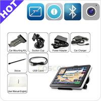 Full function GPS (Bluetooth,AV-IN,Fm) 7 inch car gps maps for windows ce sd card
