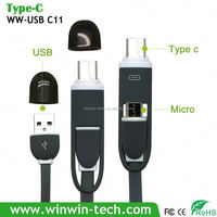 usb 3.1 type c male to 2.0 type a female hub 2 in 1 type c