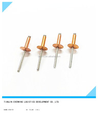 High quality Golden color Open type Waterproof Large flange head Aluminium blind rivets