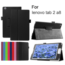 Slim Folding PU Leather Case Stand Cover for Lenovo Idea Tab 2 A8-50 Tablet