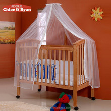 Fashion wooden baby furniture baby crib attachable baby bed with cradle mosquito net