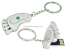 Special Shape Foot USB Flash Drive with custom logo