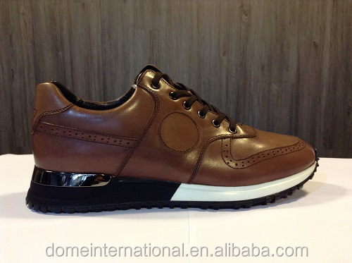 New style wholesales online retail brown cool men genuine leather fitness sport british casual man shoes