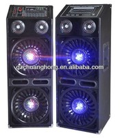 With disco light Professional 2.0 sound speaker/loudspeaker/active speaker with wireless