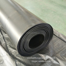 Black plastic pond liner waterproof hdpe geomembrane