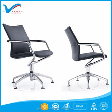 swivel chair without wheels YS1158B-1 swivel office chair no wheels with aluminum base