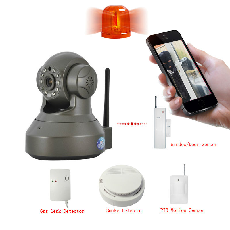 720P Push Video All-in-one wireless wifi ip camera with MIC Speaker Alarm video record