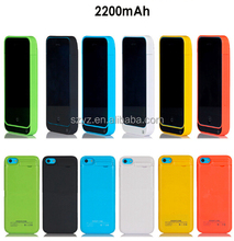 2200mAh Slim External Rechargeable Backup Battery Charger Charging Case Cover for iPhone 5S 5C 5