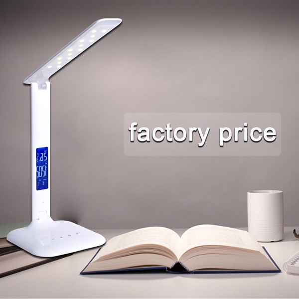 2017 new wholesale colour changing led table lamp alarm clock colour changing led table lamp