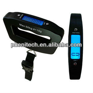 Portable Digital Travel Luggage Weighing Scale with belt and hook type for choice