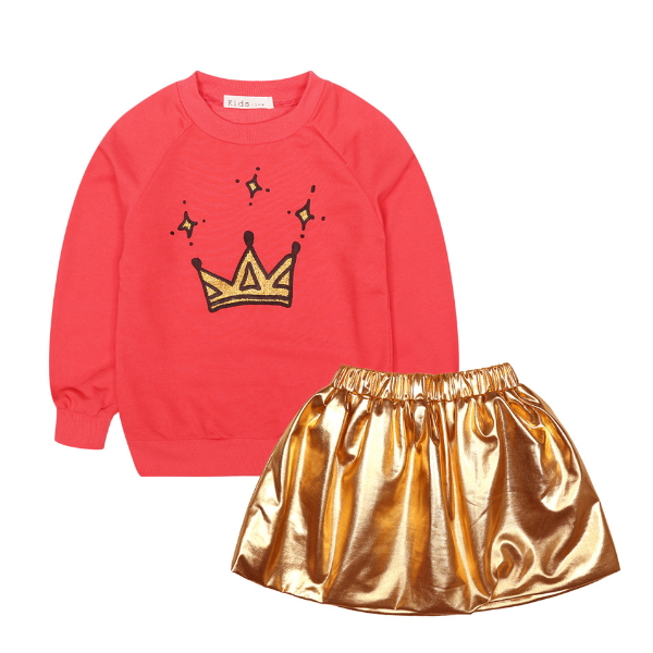 PHB10479 fall skirts sets design european children clothes