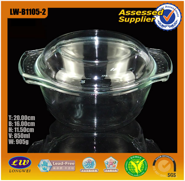 glass cookware fruit sauce pan cooking pot with glass lid