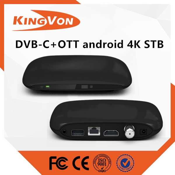 dvb-c smart tv box android set top box support 4K