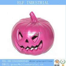 Wholesale hot products 2018 giant halloween decoration plastic artificial led light pumpkin