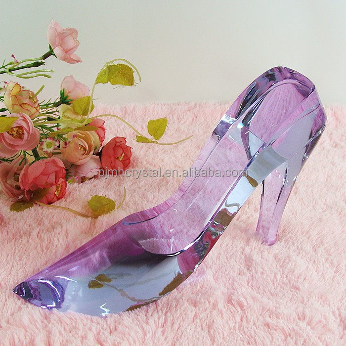 Light blue Crystal High heels Crafts,crystal shoes MH-G0179