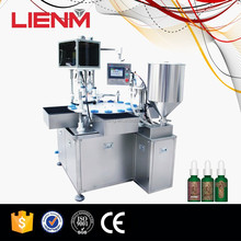 Easy Cleaned Miniature Hair Gel Bottle Filling Capping Machine