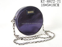 Stylish Fashionable PU Leather Round Shape Ladies Cross Body Handbag Phone Case