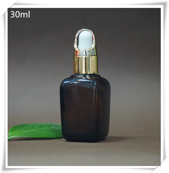 China Shandong Pharmaceutical Glass square glass amber bottle essence oil packing bottle