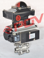 Pneumatic double acting 1000 wog full port welding socket ball valve