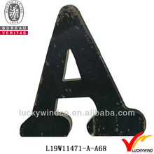 2012 wall decoration black wood letter art