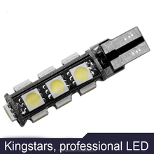 High quality car led spot light 12v T10 13smd 5050 SMD White LED CANBUS W5W T10 canbus car led light