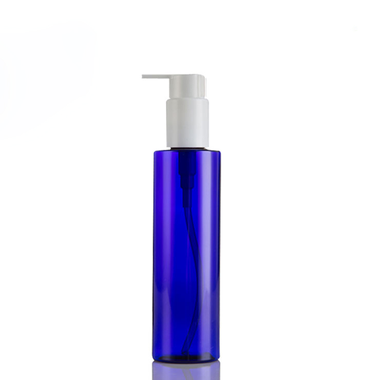 Semi Blue Color 24/410 Entrance Plastic PET Bottle 200ml with White Lotion Pump Dispenser