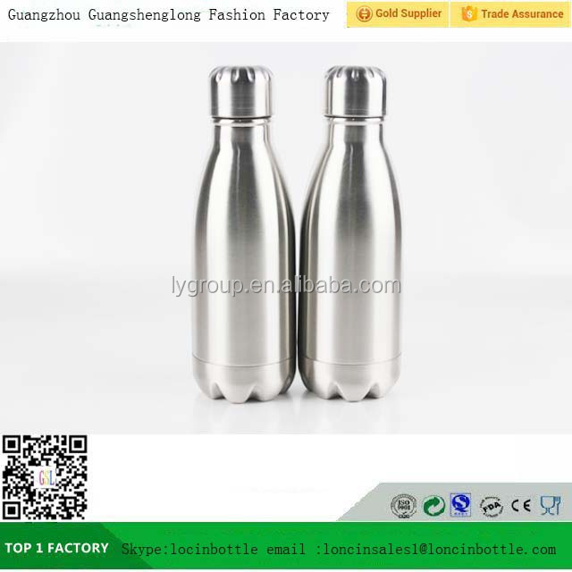 Cola Shaped Insulated Stainless Steel Water Bottle, 260ml double wall vacuum water thermos bottle
