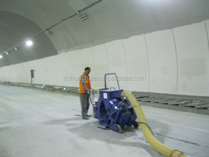 Evaluation of a good clear tunnel pavement shot blasting machine
