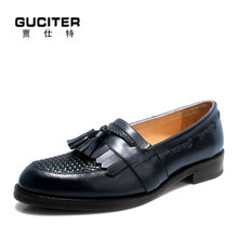 High-end custom shoes with logo mens shoes Goodyear shoes for men hand made loafer tassel woven leather brand casual profession