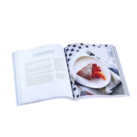 Hardcover cook book recipe printing service with high quality and best price