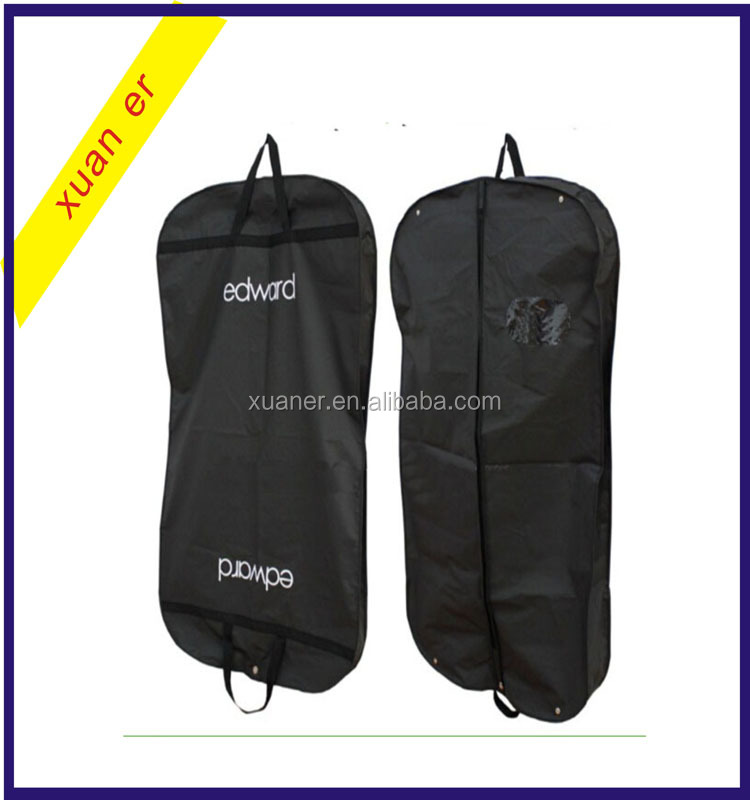 High quality fashion waterproof hanging storage garment suit bag