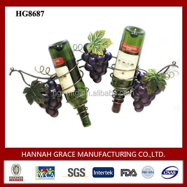 Grape Wine Hanging Rack Wall Mounted Bottle Holder
