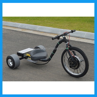 Motorized drift trike big wheel slider tricycle