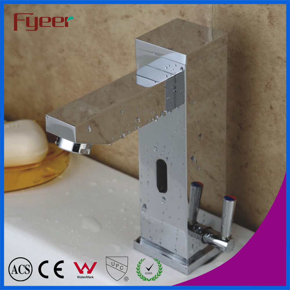 Fyeer Solid Brass Single Handle Automatic Sensor Mixer Faucet