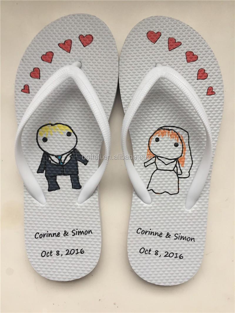 Barato al por mayor de la boda flip Flop de goma-Zapatillas de mujer ...
