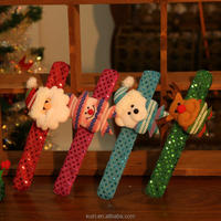 Christmas Santa Claus Patting Circle Hand Belt Christmas kids Gift New Year Christmas Decoration Toys for Home Party