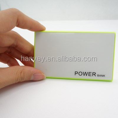 light power bank easy to carry credit card power bank changer for mobile