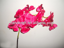 plastic big size orchid flower for wedding decor