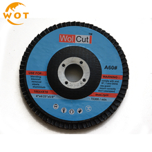 4 Inch China Manufacture Sharpness And Durability Calcined Aluminum Oxide Abrasive Flap Disc