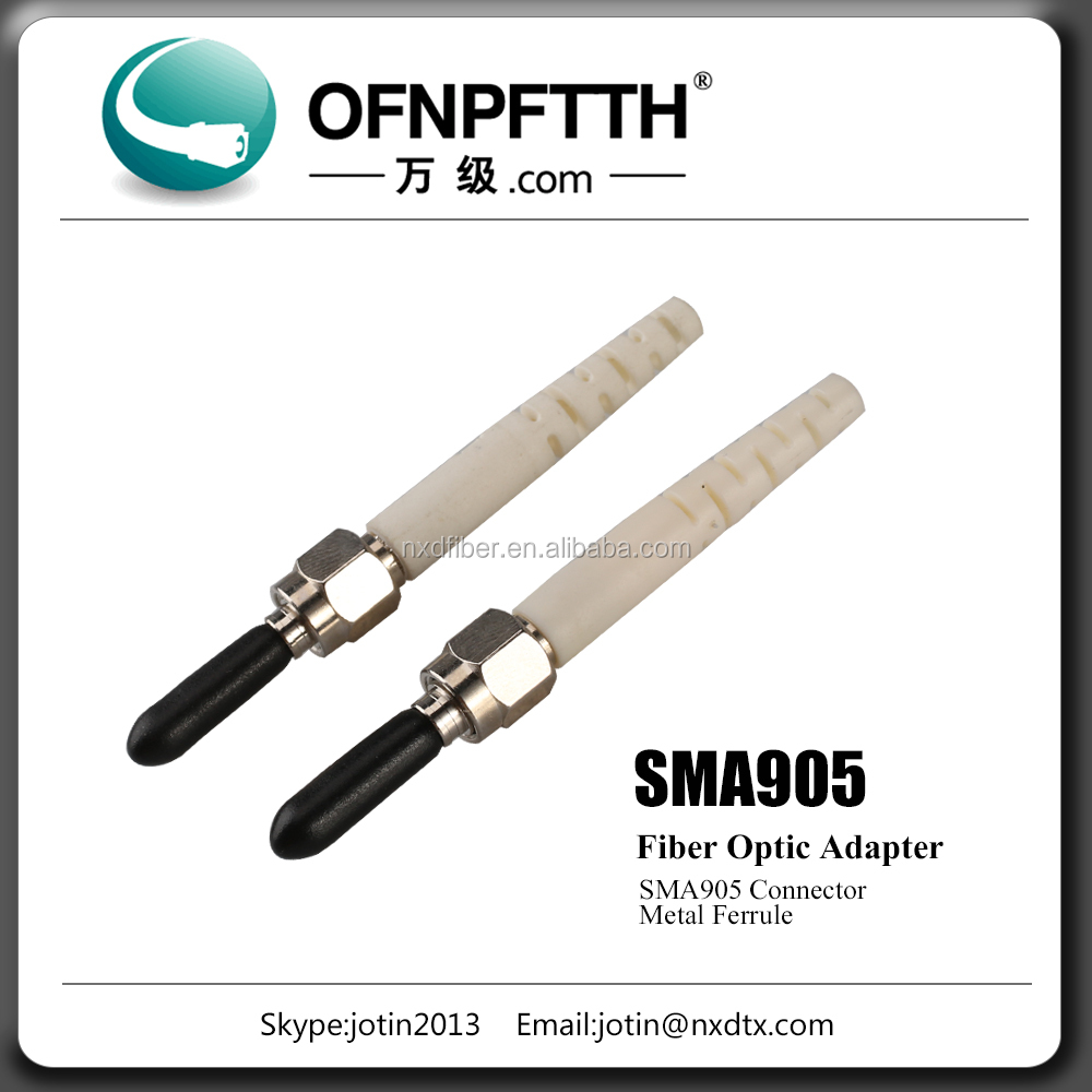 Stock supply fiber optical SMA 905 connector with CE RoHS UL